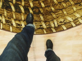feet on floor and rug make different sounds