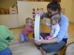 Miranda Paquette and students at Burlington Children's Space
